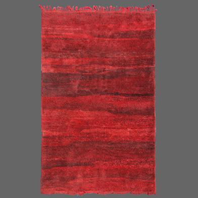 tapis de beni m'guild bandes rouge