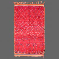 A fantastic vintage Azilal rug, shimmering in red wools with a fabulous design