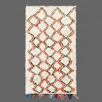 The pattern on this vintage Azilal rug is mapped out more with feelings.