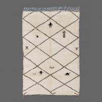 Vintage Beni Ouarain Rug, Berber Rug